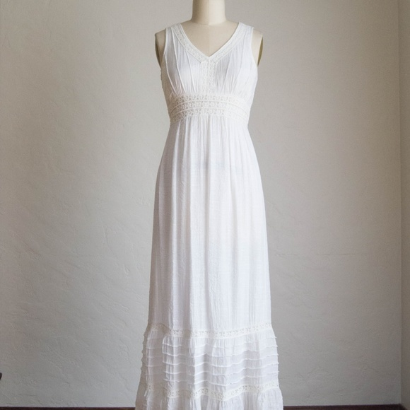 White Boho Maxi Dress Summer Dress Wedding Dress